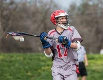 Jogador da lacrosse Fotografia de Stock