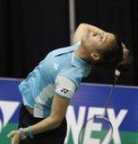 Jogador da mulher de Bélgica do Badminton Fotografia de Stock Royalty Free