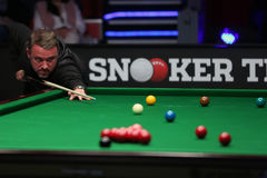 Jogador da sinuca, Stephen Hendry Foto de Stock Royalty Free
