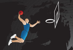 Jogador de basquetebol Fotos de Stock Royalty Free