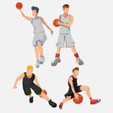 Jogador de basquetebol Ilustração Royalty Free