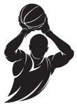 Jogador de basquetebol Imagens de Stock Royalty Free