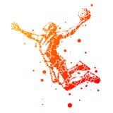 Jogador de basquetebol abstrato no salto Imagem de Stock Royalty Free