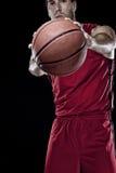 Jogador de basquetebol com uma esfera Imagens de Stock
