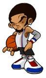 Jogador de basquetebol da esfera da rua do lúpulo do quadril foto de stock