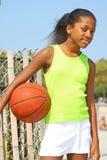 Jogador de basquetebol da menina Foto de Stock Royalty Free