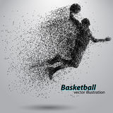 Jogador de basquetebol das partículas fotos de stock