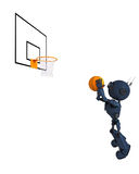 Jogador de basquetebol de Android Foto de Stock Royalty Free