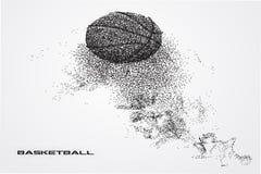 Jogador de basquetebol de uma silhueta da partícula Imagem de Stock Royalty Free