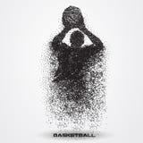Jogador de basquetebol de uma silhueta da partícula Imagens de Stock