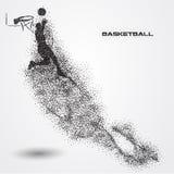Jogador de basquetebol de uma silhueta da partícula Imagens de Stock Royalty Free