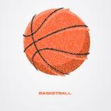 Jogador de basquetebol de uma silhueta da partícula Imagem de Stock