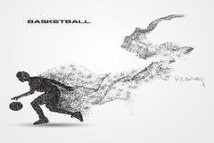 Jogador de basquetebol de uma silhueta da partícula Foto de Stock Royalty Free