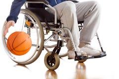 Jogador de basquetebol deficiente imagem de stock