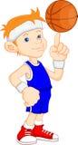 Jogador de basquetebol do menino Imagem de Stock Royalty Free