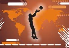 Jogador de basquetebol internacional Ilustração do Vetor