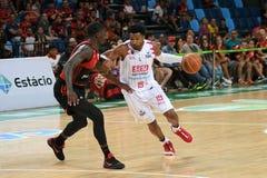 Jogador de basquetebol Leandrinho fotografia de stock royalty free
