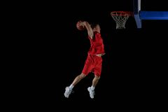 Jogador de basquetebol na ação Fotos de Stock Royalty Free