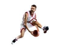 Jogador de basquetebol na ação Imagem de Stock Royalty Free