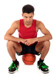 Jogador de basquetebol nepalês do homem Fotos de Stock Royalty Free