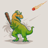 Jogador de beisebol de Dino Fotografia de Stock Royalty Free
