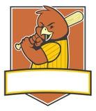 Jogador de beisebol do pássaro Imagem de Stock Royalty Free