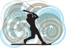 Jogador de beisebol. ilustração. Imagem de Stock