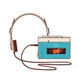 Jogador de cassete áudio do vintage no fundo branco E Imagens de Stock