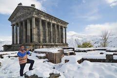 Jogador de Duduk em Armênia imagens de stock royalty free
