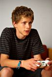 Jogador de fala do jogo video Foto de Stock