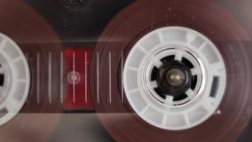 Jogador de fita retro da cassete áudio filme