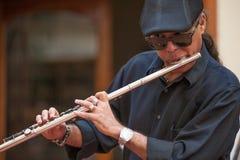 Jogador de flauta em Havana Cuba Fotos de Stock