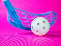 Jogador de Floorball na ação Foto de Stock