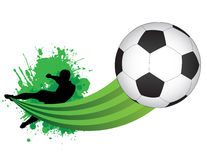 Jogador de futebol Fotografia de Stock