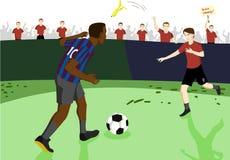 Jogador de futebol Ilustração Royalty Free