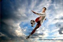 Jogador de futebol Imagens de Stock Royalty Free