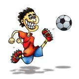Jogador de futebol Ilustração do Vetor