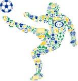 Jogador de futebol abstrato Imagens de Stock Royalty Free