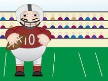 Jogador de futebol americano que está no campo Imagens de Stock