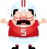 Jogador de futebol assustado dos desenhos animados Imagens de Stock Royalty Free