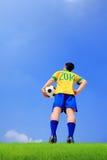 Jogador de futebol brasileiro Imagem de Stock