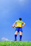Jogador de futebol brasileiro Fotos de Stock