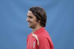 Jogador de futebol croata Kranjcar fotos de stock