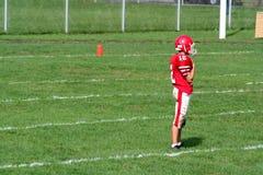 Jogador de futebol da High School fotos de stock