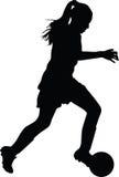 Jogador de futebol da mulher Fotos de Stock Royalty Free