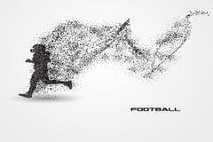 Jogador de futebol de uma silhueta da partícula Foto de Stock Royalty Free