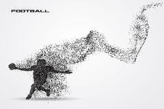 Jogador de futebol de uma silhueta da partícula Fotos de Stock