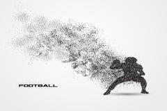 Jogador de futebol de uma silhueta da partícula Fotos de Stock Royalty Free