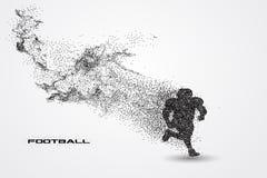 Jogador de futebol de uma silhueta da partícula Imagem de Stock Royalty Free
