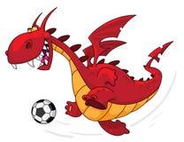 Jogador de futebol do dragão Fotos de Stock